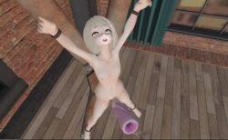磔拘束されたロリ美少女が高速オナホコキでイカされるwww 画像