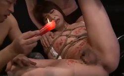 緊縛されたドM女装子が蝋燭責めされながらケツマンコを犯されるwww 画像